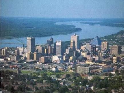 Memphis Aerial Skyline