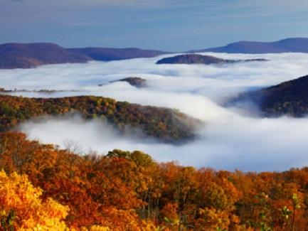 Mountain Fog at Shenandoah National Park