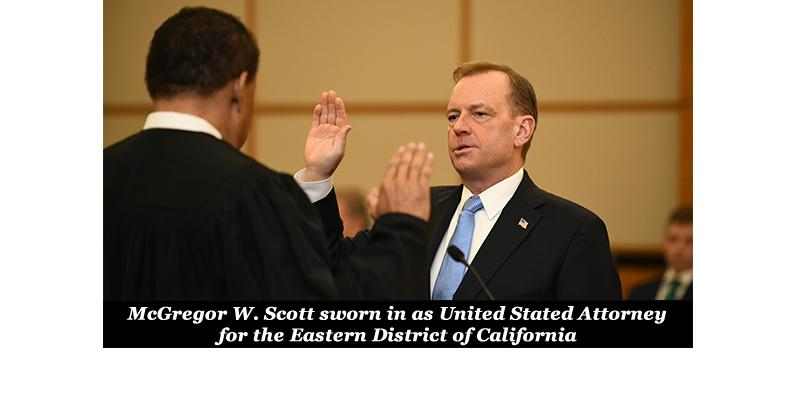 McGregor W. Scott sworn in as United States Attorney
