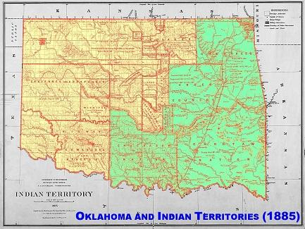 Oklahoma and Indian Territories 1885