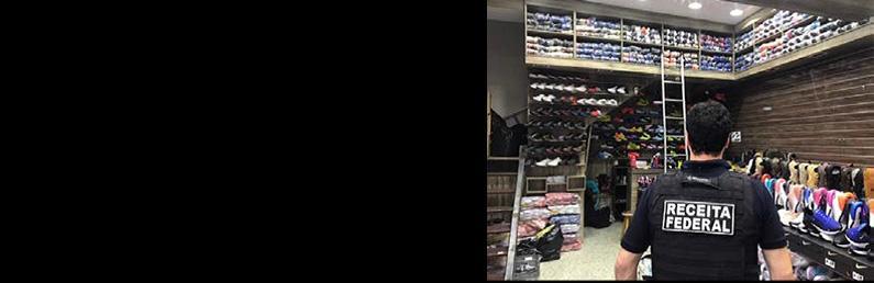 ICHIP Program-mentored customs officers seizing counterfeit footwear in Sao Paulo, Brazil.