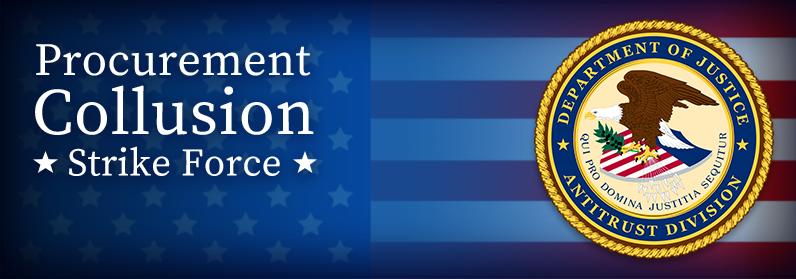 Procurement Collusion Strike Force - U.S. Department of Justice Antitrust Division Seal