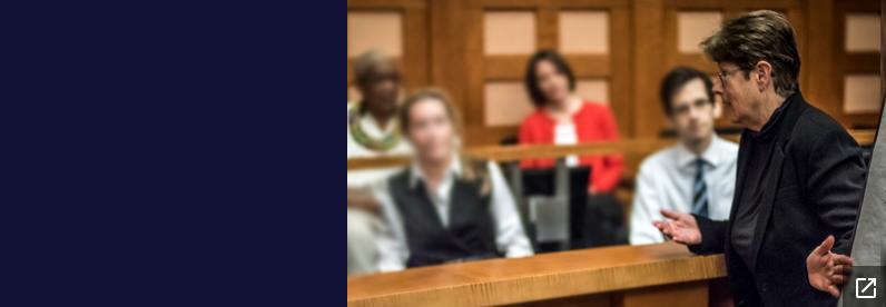 Prosecutor presenting to jury