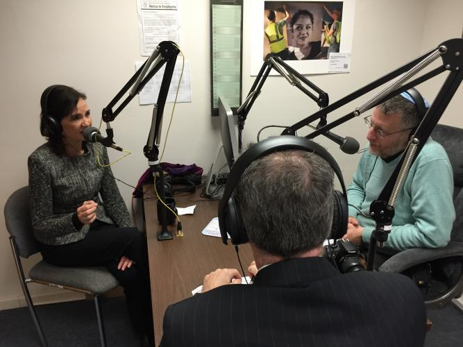 USAttorney Daly at WNHH radio studio