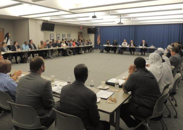 Roundtable discussion with Somali community leaders and local law enforcement
