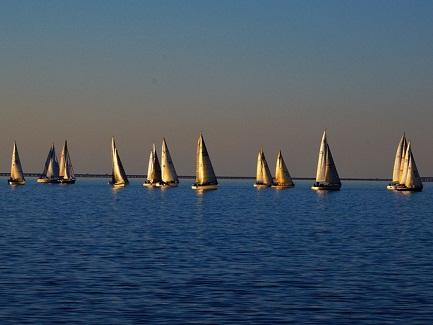 Sailboats, Lake Pontchartrain, New Orleans, LA