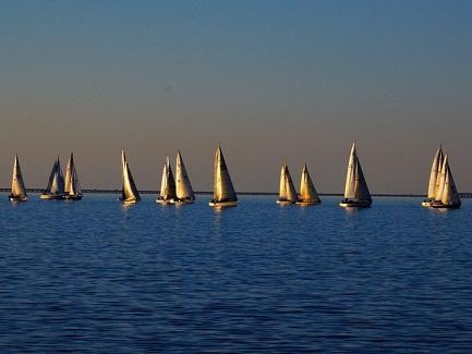 Sailboats, Lake Pontchartrain, New Orleans, LA