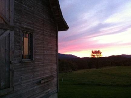 Lamoille County Barn at Sunset