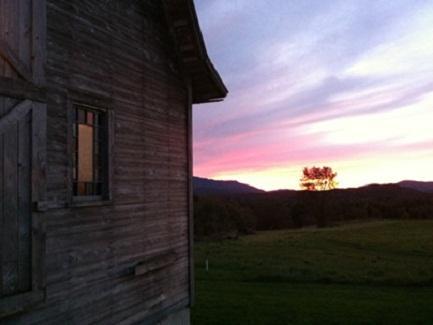 Lamoille County Barn at Sunset