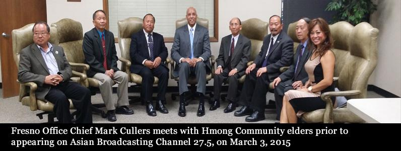 Fresno Office Chief Mark Cullers meets with Hmong Community elders