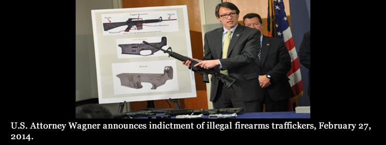 Indictment of illegal firearms traffickers