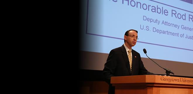 Deputy Attorney General Rosenstein Speaks at Emerging Frauds in the Digital Age Conference