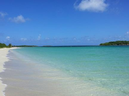 Blue Beach on Vieques Island, Puerto Rico
