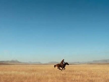 Riding through Texas on horseback