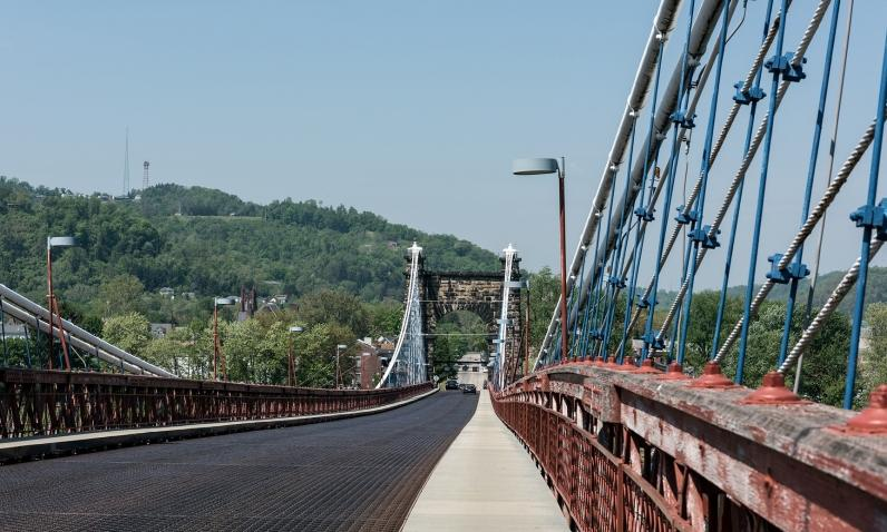 Suspension Bridge, Wheeling, WV
