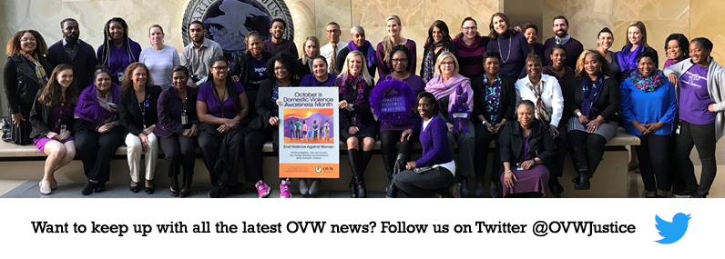 Want to keep up with all the latest OVW news? Follow us on Twitter @OVWJustice