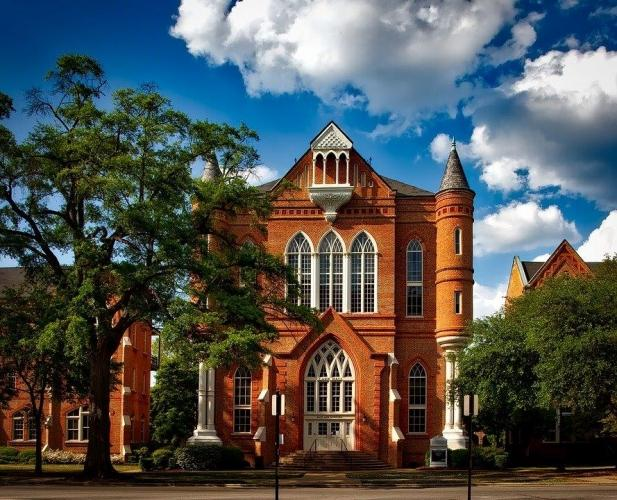 Brick Building on University of Alabama in Tuscaloosa