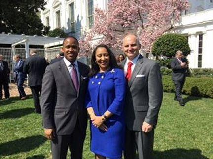 USA Kenneth Polite, USA Stephanie Finley, USA Walt Green at the White House