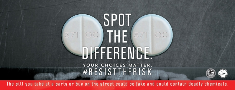 Spot the Difference. The pill you take at a party or buy on the street could be fake and could contain deadly chemicals
