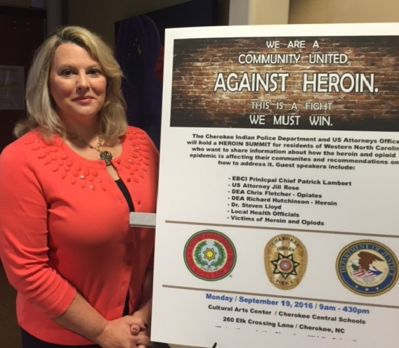 US Attorney Rose at Heroin Summit in Cherokee, N.C.