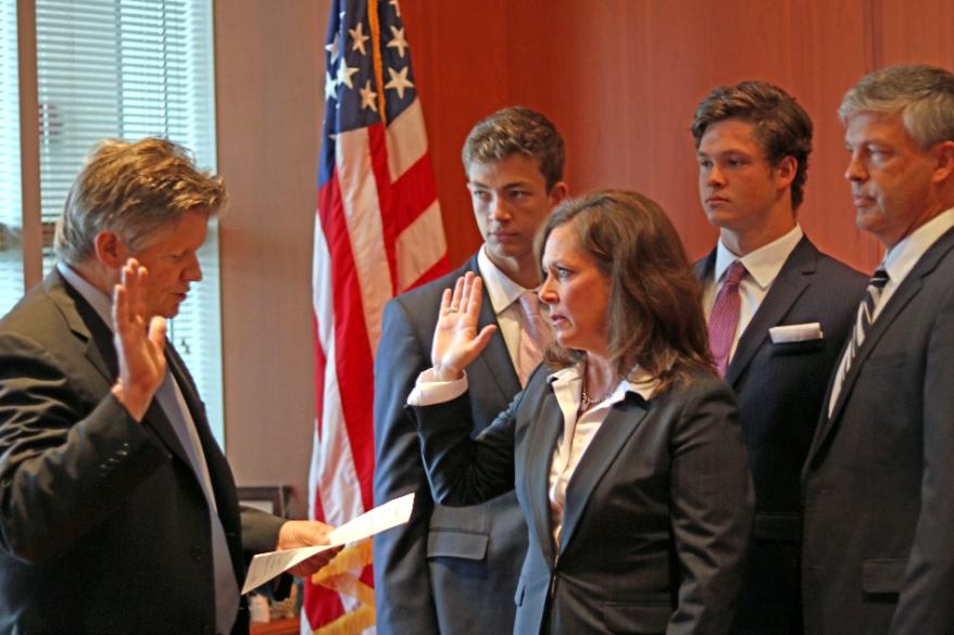 Erica MacDonald Oath of Office photo