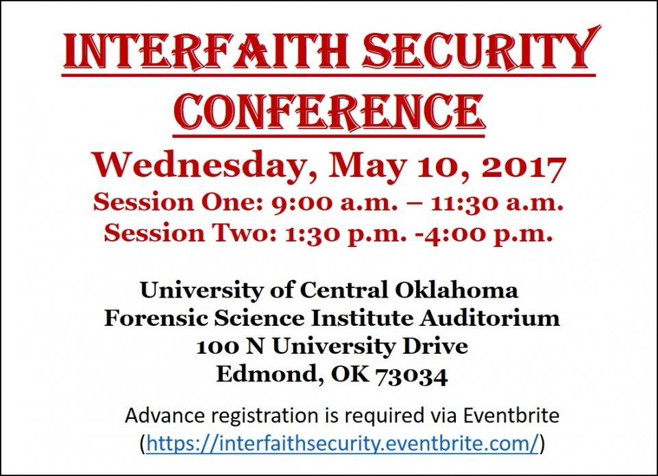 Interfaith Security Conference