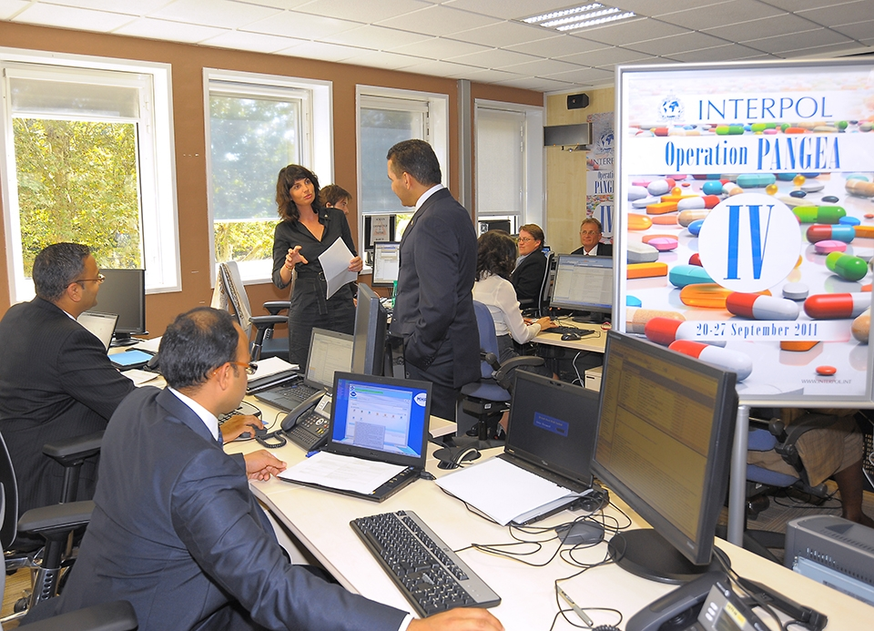 INTERPOL Washington Employees Working