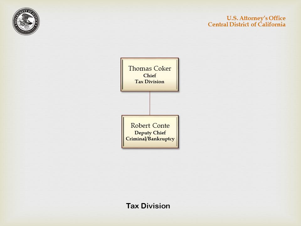 Tax Division Organizational Chart