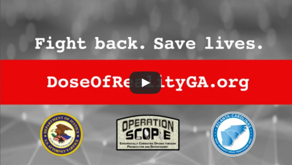 Image linking to video - Fight back. Save Lives. DoseOfRealityGA.org