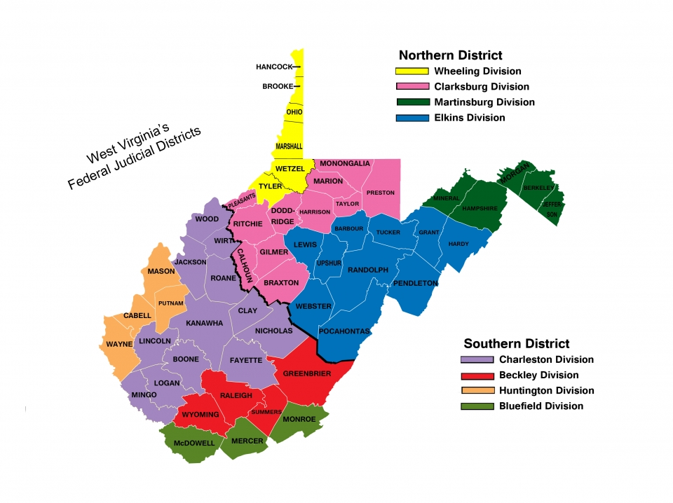 WV District Counties