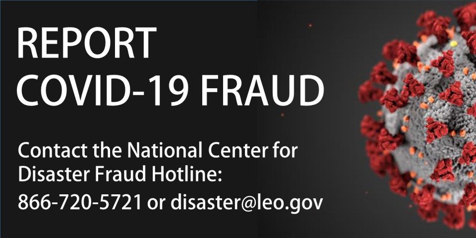 COVID-19 Disaster Fraud Hotline