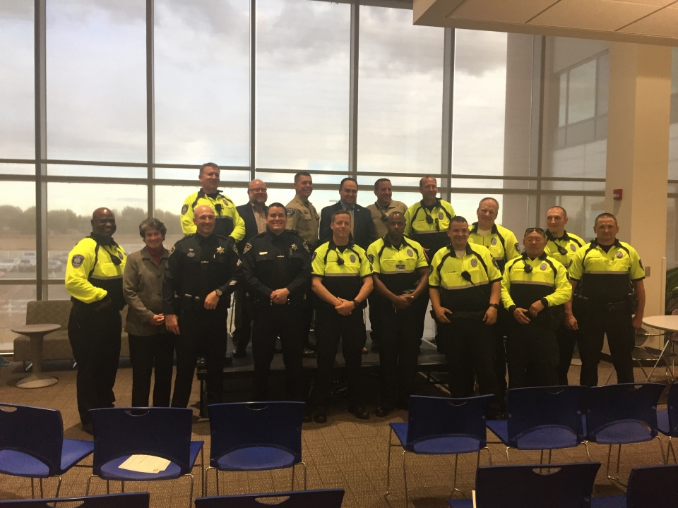 Community Policing Award Recipients with U.S. Attorney and U.S. Marshal
