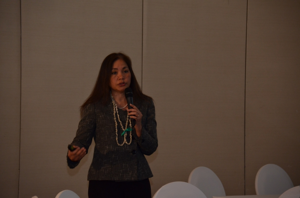 a photo taken of U.S. Attorney Limtiaco at the conference