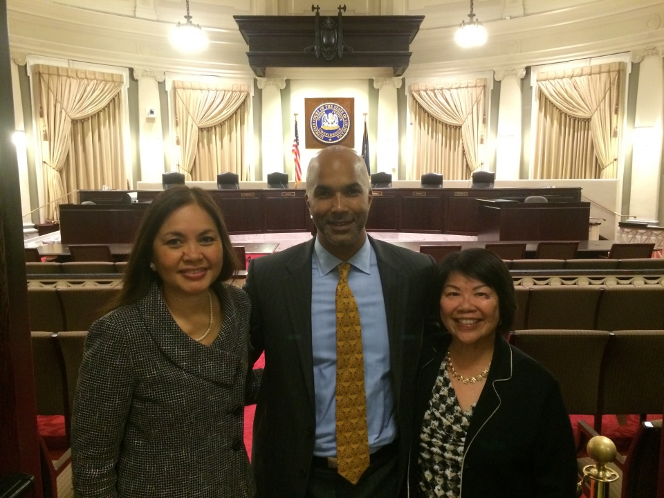 Picture of U.S. Attorney Alicia Limtiaco with U.S. Attorney Carter Stewart from the Southern District of Ohio and U.S. Attorney Florence Nakakuni from the District of Hawaii