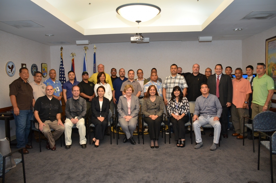 Picture of Participants at the law enforcement sensitive training in Guam