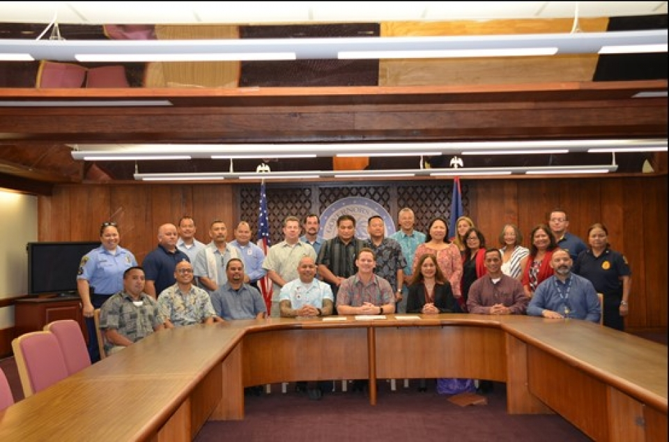 Picture of Proclamation Signing in Guam for National Community Policing Week