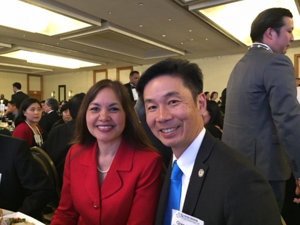 Picture of U.S. Attorney Alicia Limtiaco with U.S. Department of Justice Community Relations Service Director Grand H. Lum