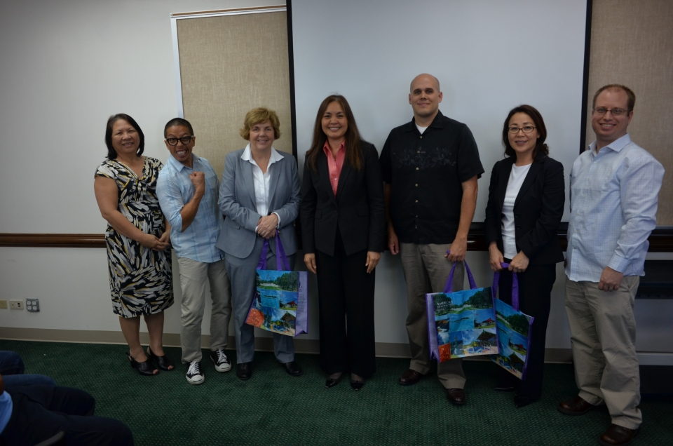 Picture of Presenters from the IRS-CI pictured here with U.S. Attorney Alicia Limtiaco in the center