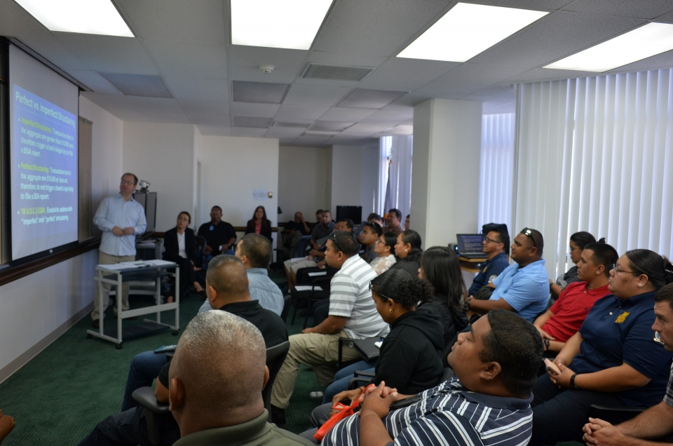 Picture of Participants at the law enforcement sensitive training in Saipan, NMI