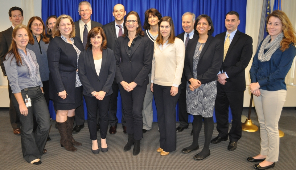 Members of the U.S. Attorney's Office wear blue for National Human Trafficking Awareness Day
