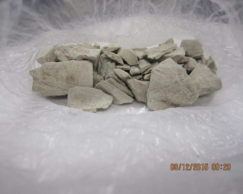 Photo of more than 100 grams of seized heroin