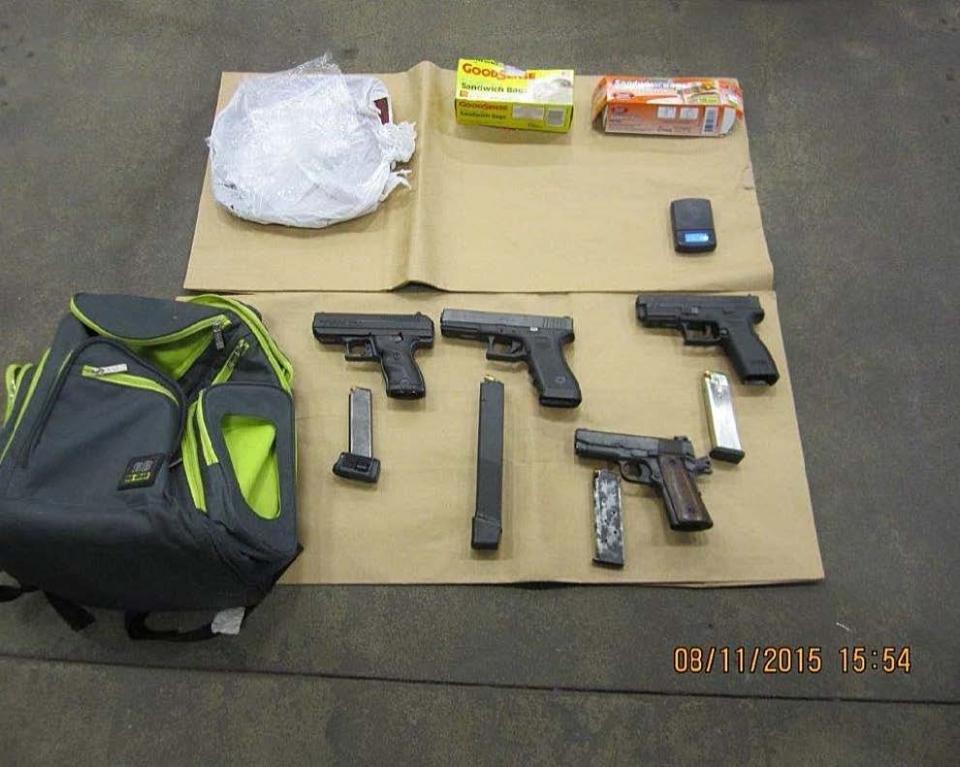 Photo of seized guns