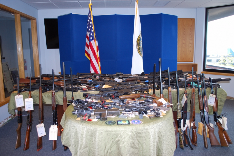 Firearms seized during Operation Fury Road