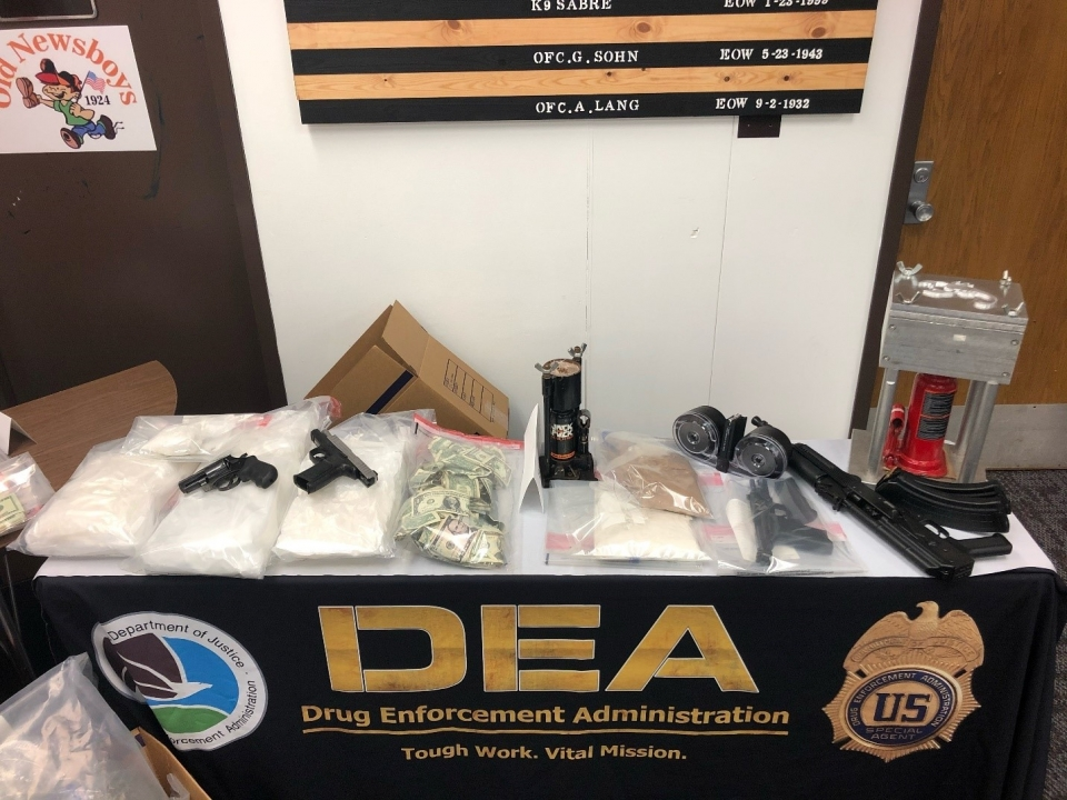Additional guns and money seized