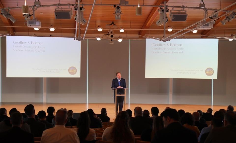 U S  Attorney Geoffrey S  Berman Delivers Keynote at Cyber