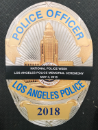 LAPD Memorial Ceremony Banner