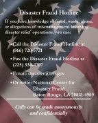 National Center for Disaster Fraud poster for download