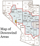 Map of Downwind Areas