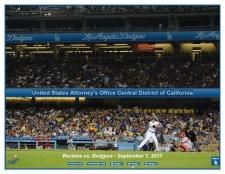 Rockies vs. Dodgers during Law Enforcement Appreciation Night