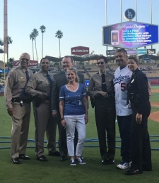 Acting USA Sandra Brown with LASD, LAPD, and CHP